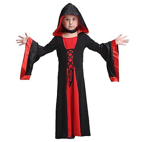 Gruppe Halloween Ideen Für Große Die Kostüme (Uleade Kinder Mädchen Hexe Halloween Kostüm Kind Hexe Dress Up & Rolle)