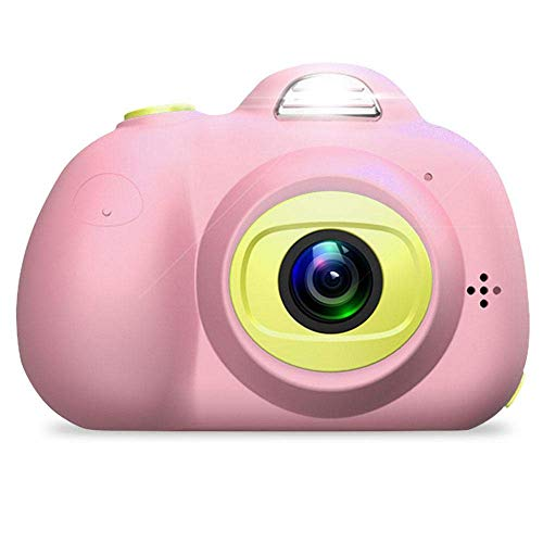 PIANAI DIY Kamera für Kinder mit Aufkleber Digital Kamera Mini Kids Camera Kinderkamera inkl.USB Kabel,pink