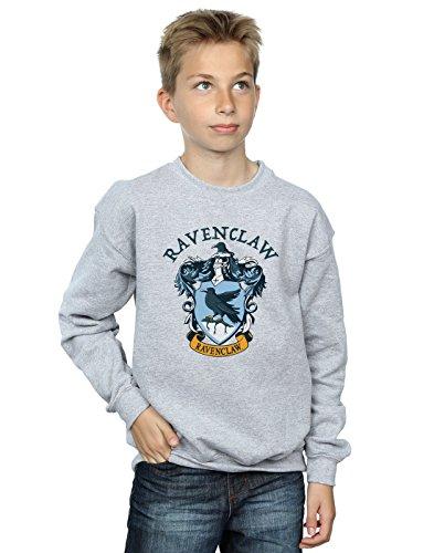 Harry Potter Jungen Ravenclaw Crest Sweatshirt Sport Grau 9-11 Years Crest Pullover Sweatshirts