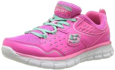 Skechers Girls Synergy - Alister Lace-Up Flats 80877L Hot Pink/Multi 10.5 UK Child, 28 EU