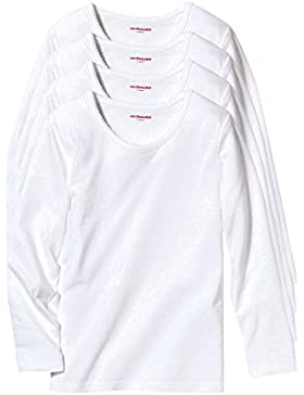 VERTBAUDET Lote de 4 camisetas de manga larga niña