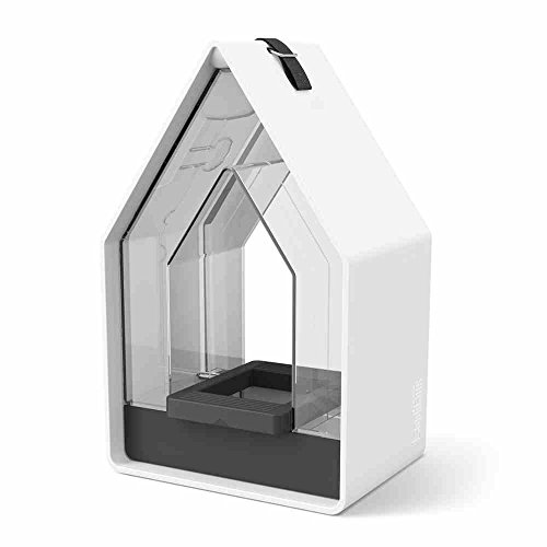 Maison de Campagne Silo 15 x 10 x 24 cm Auto-adhésive Blanc/granite
