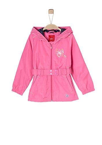 s.Oliver RED LABEL Junior Mädchen Multifunktionale Regenjacke pink 140 (Pailletten-gürtel Elastischer In Taille Der)