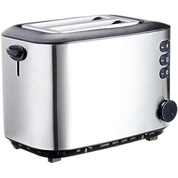 amazonbasics grille pain 850 w 2 fentes acier bross inoxydable cuisine maison. Black Bedroom Furniture Sets. Home Design Ideas