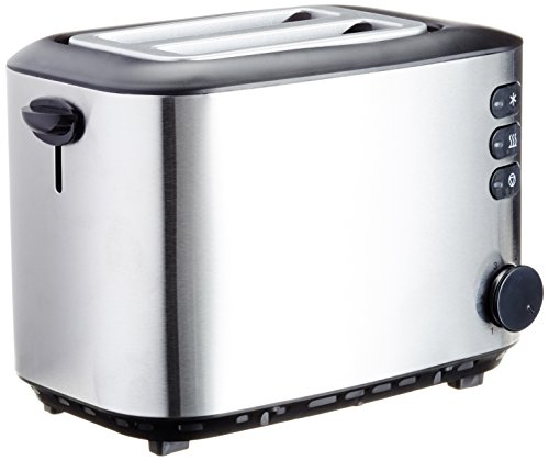 AmazonBasics Toaster, Leistung: 850 W, gebürsteter Edelstahl