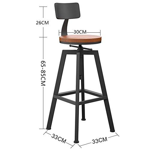 Sgabello da ufficio pieghevole esterno comodo all' sedia in legno massiccio / posti a sedere in poliuretano alto sedia a sdraio per la cucina a buffet per la famiglia e per il business chair and stool ( colore : #3 )