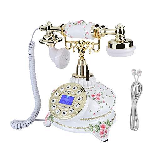Bewinner Retro Festnetztelefon für Festnetztelefon - FSK/DTMF-Dualsystem, mit Pause- und Wahlwiederholungsfunktion - Antike Telefone für Home Hotel Office mit Anti-Rutsch-Matte