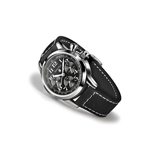Reloj Eberhard Hombre 31068_ CP automático acero quandrante negro correa piel
