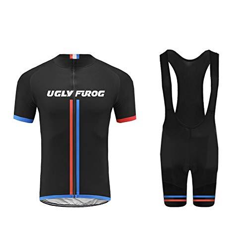 Uglyfrog+ Sommer-Männer Radtrikot Set Kurze Hülsen-Fahrrad Jersey und 3D Padded Shorts Quick Dry Sport -
