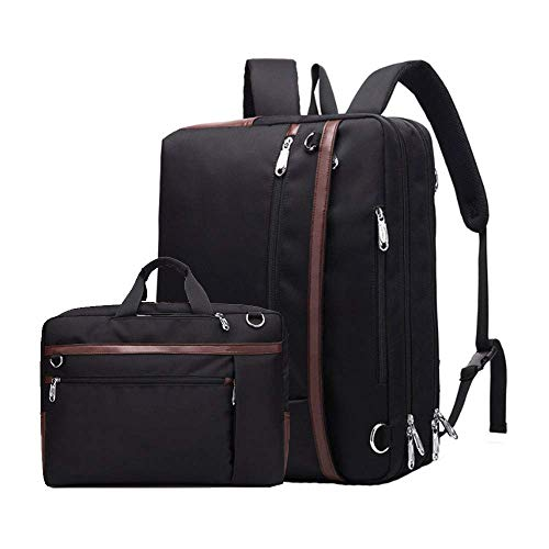 XUDONG Laptop-Tasche 17,3 Zoll Rucksack wasserdicht verschleißfesten Oxford-Stoff Nylon Messenger Bag Männer und Frauen Multifunktions-Handtasche Business Aktentasche Rucksack (Nike Messenger Bag Für Männer)