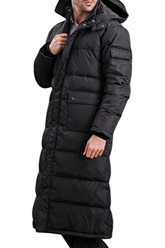 XIAOLV88 - Manteau - Homme Noir - Noir