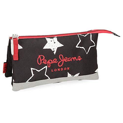 Pepe Jeans Jessa Neceser de Viaje, 22 cm, 1.32 litros, Negro