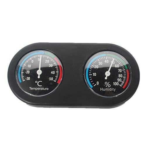 Bomcomi Reptil termómetro higrómetro Mini Forma Redonda Doble Dial Medidor de la Humedad del termómetro...