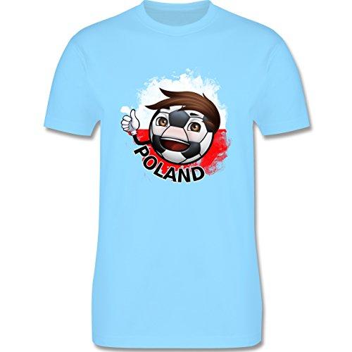 EM 2016 - Frankreich - Fußballjunge Polen - Herren Premium T-Shirt Hellblau