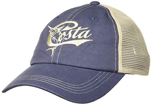 Costa Del Mar Retro Trucker Mütze mit Schnappverschluss, Damen, Blue/Stone, Einheitsgröße -