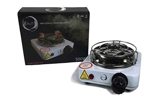 Rascan Elektrischer Shisha Kohleanzünder 500W Turbo Schnellheizer für Shisha Kohle mit Schutzgitter | Sehr Klein aber Sehr Schnell |