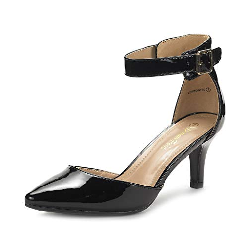 Dream Pairs Lowpointed Zapatos Tacón Vestir Mujer