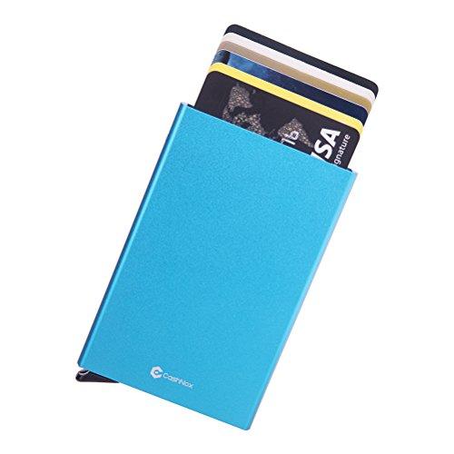 Premium étui carte de crédit avec rfid protection et Pop Up carte Cash Nox Fonction Étui pour 6cartes, porte carte pour homme femme, slim Wallet Card...