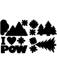 "Gear Aid Tenacious Tape Peel & Stick Gear Patches Black Snow Repair Shapes 20"""