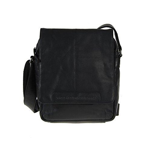 The Chesterfield Brand Richard Schultertasche Leder 29 cm Black