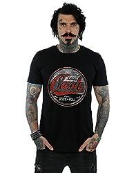 Johnny Cash Herren Rock N Roll Circle T-Shirt Schwarz Large