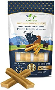 Pawfect Himalayan Chew Bars - Natural Cheese Dog Treats (Medium-65g x 2))