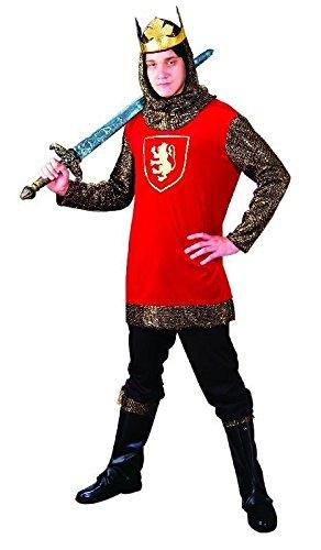 Foxxeo Ritter Kostüm für Herren Größe (Edle Krieger Kostüm Für Erwachsene)