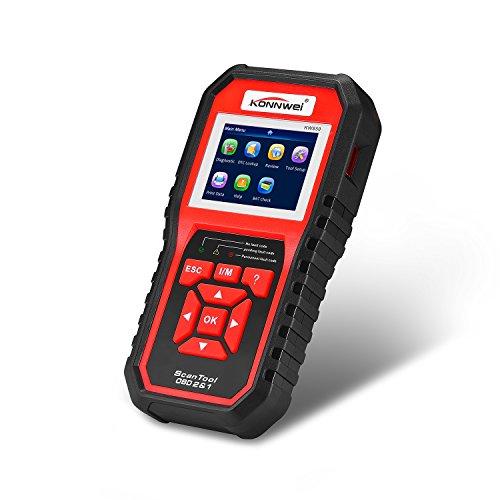 Preisvergleich Produktbild OBDII EOBD Auto Diagnostic Scanner,  KONNWEI KW850 ODB2 Automotive Scanner mehrsprachig Volle OBDII Auto-Diagnose Werkzeug