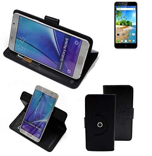 K-S-Trade® Case Schutz Hülle Für -Doogee Y6C- Handyhülle Flipcase Smartphone Cover Handy Schutz Tasche Bookstyle Walletcase Schwarz (1x)