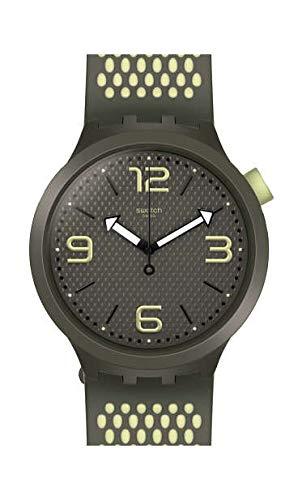 Swatch Herren Analog Quarz Uhr mit Silikon Armband SO27M102 - Swatch Uhren Von