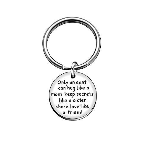 Portachiavi aunt niece family regali di nozze compleanno portachiavi–solo una zia can hug come una mamma