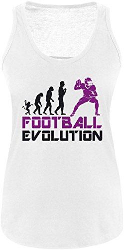 EZYshirt® Football Evolution Damen Tanktop Weiss/Schwarz/Violett