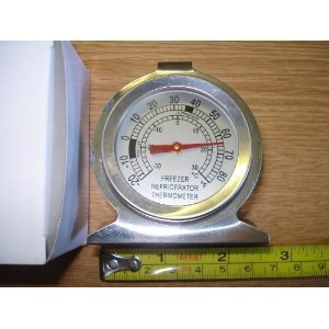 Frigorífico/congelador termómetro de acero inoxidable
