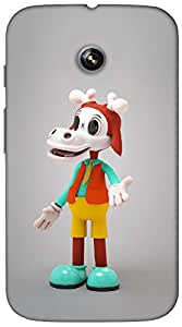Timpax Protective Hard Back Case Cover With Easy access to all ports Printed Design : Billy the goat.For Motorola Moto-E ( 1st Gen )