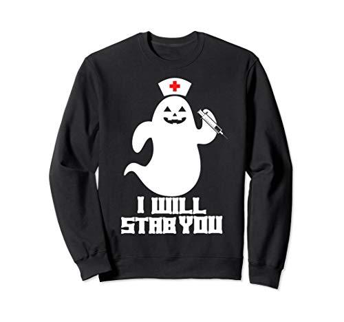 Lustiges Halloween Krankenschwester Geist Kostüm - Lustige Krankenschwester Kostüm