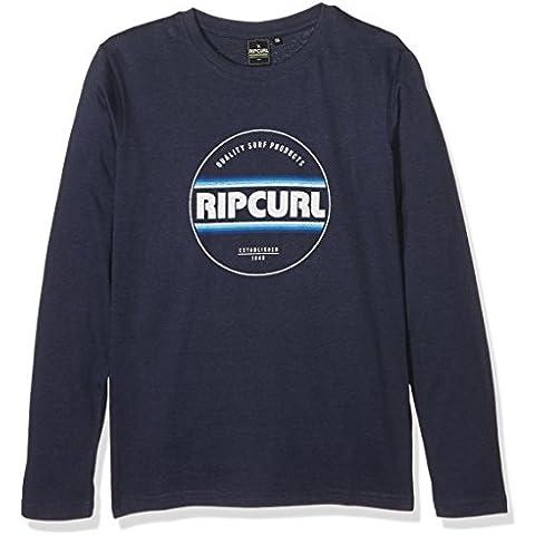 Rip Curl Biggy Boy Ls Tee - Camiseta para niño, color azul, talla 14