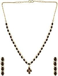 d461e24e4c0d Efulgenz - Juego de Collar y Pendientes de Cristal con circonitas cúbicas  para Novia