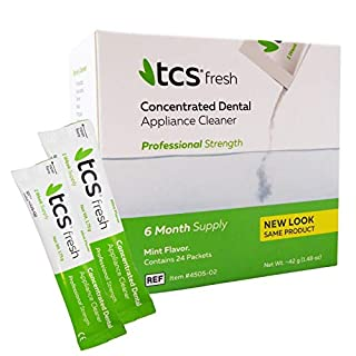 TCS Concentrated Cleaner ~ 6 Months Supply for Flexible Dentures, Retainers and Dental Appliances