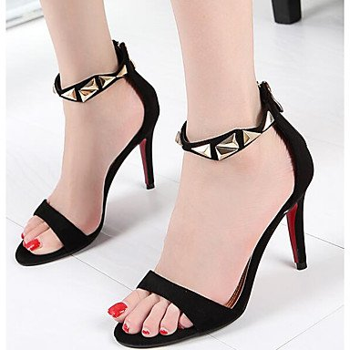 pwne Donna Primavera tacchi Comfort PU Casual Stiletto Heel Nere Black US8 / EU39 / UK6 / CN39 US5 / EU35 / UK3 / CN34