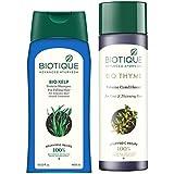 Biotique Bio Kelp Fresh Growth Protein Shampoo, 400ml and Biotique Bio Thyme Volume Conditioner, 200ml