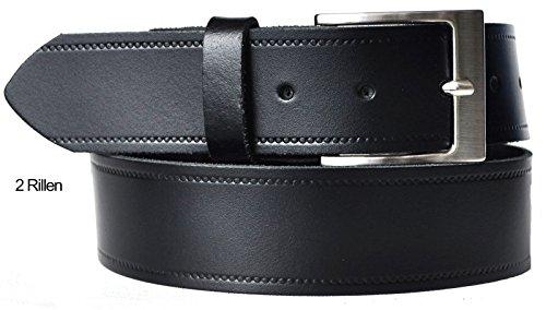 70 bis 180 cm Bundweite 4cm Breite ab 9,90 Euro 2 RILLEN Leder Guertel (Bundweite 100cm)