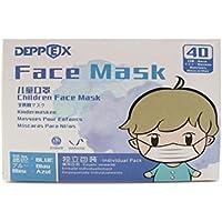 Deppex Children Face Mask Kids Paquete quirúrgico médico para niños, Niños 4-10 años 40 Cuenta