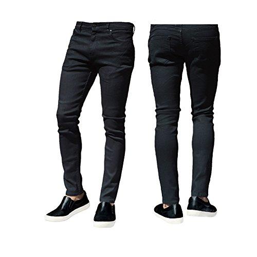 ClassyDude Herren Jeanshose Taille Sizes 30 32 34 36 38 40 42 Schwarz