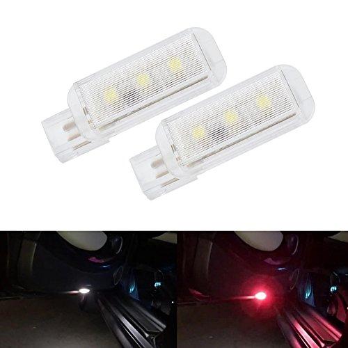 Ralbay 2pcs Car Truck Rear Tail Door Warning Light Strobe Light Rear Lamps Car Truck Lamp LED Car Door Light