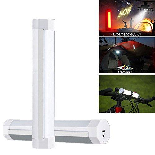Preisvergleich Produktbild Boriyuan Tragbare LED Taschenlampe Flashlight Außenleuchte für Wandern, Camping, Notfall, Angeln, Nachtlicht, Gartenleuchte mit 2600mAh Li-ion Akku (Farbe: Weiß)