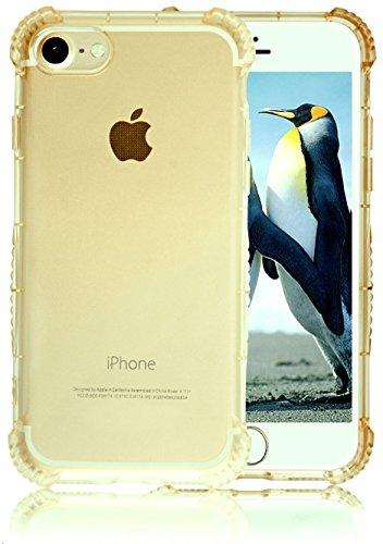 Custodia iPhone 7 in Oro Trasparente SWISS-QA, La Migliore Protezione Invisibile Per Il Tuo iPhone Apple Cover Di Alta Qualità Antiscivolo Ergonomica Con Nuova Tecnologia Bumper Per Evitare La Rottura