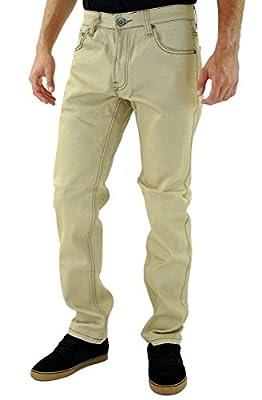 Kayden K 2Tone Stitch Slim Jeans Khaki