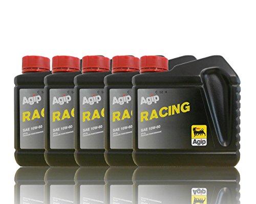 Agip Racing huile de moteur SAE 10 W de 60 5 x 1 L