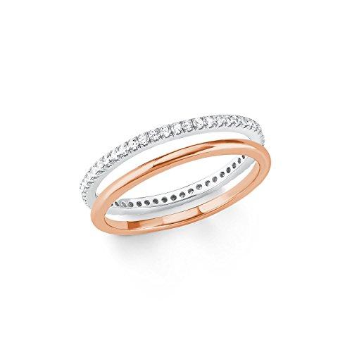 s.Oliver Damen-Stapelring Silber_vergoldet zirkonia \'- Ringgröße 50 (15.9) 2021012