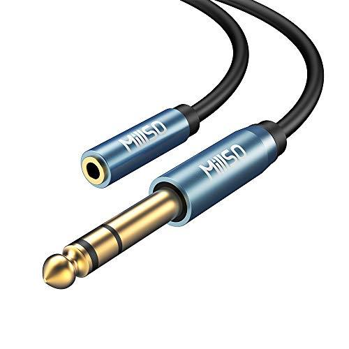 MillSO Audio Adapter 6.35mm Klinkenstecker auf 3.5mm